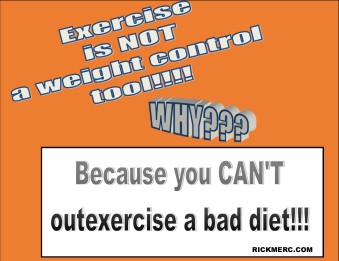 Exercise is not weight control